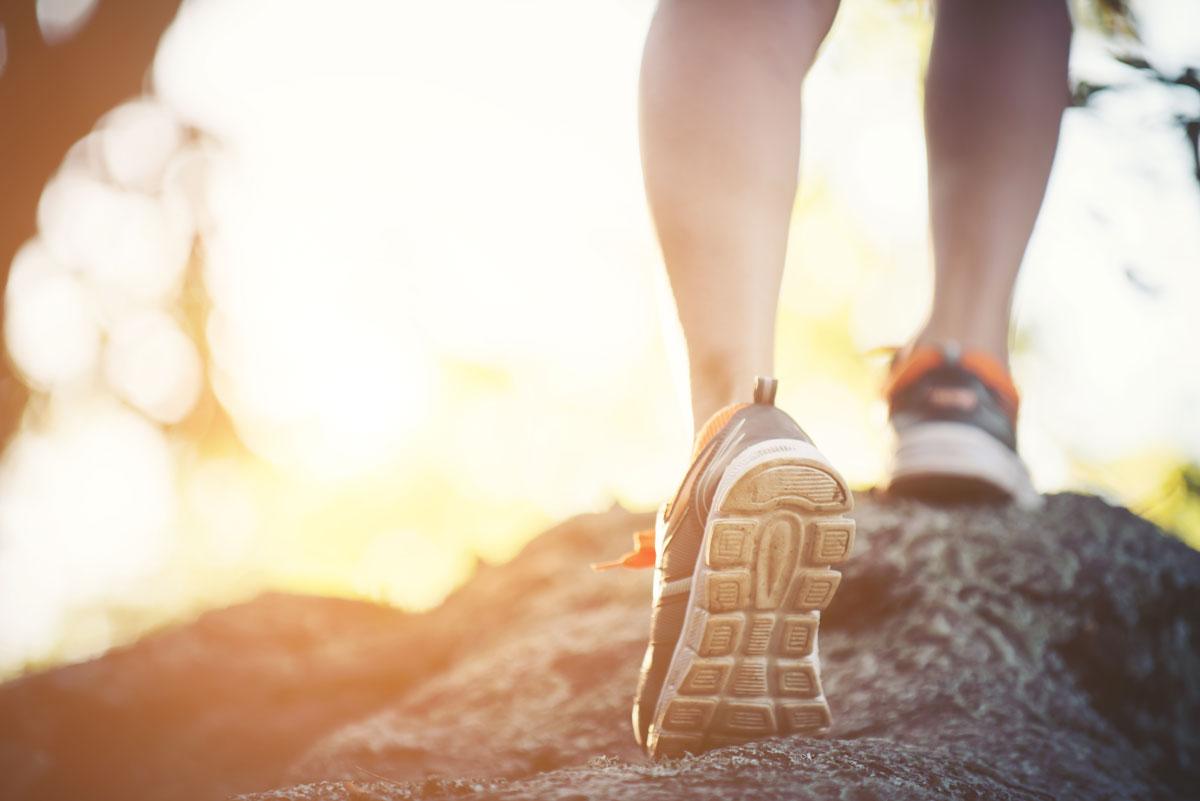 Pessoa praticando trail run